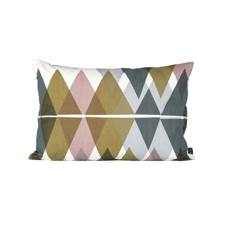 Update your soft furnishings with this stunning Mountain Lake cushion from Ferm…