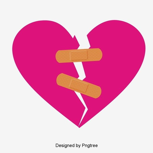 Vector Hand Painted With A Band Aid Sticking Together Broken Heart Vector Hand Painted Broken Heart Png Transparent Clipart Image And Psd File For Free Downl Vector Hand Hand Painted Band