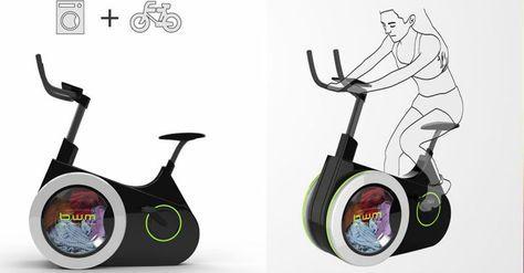 Die Fahrrad-Waschmaschine ist ein Ergometer das von Studenten der chinesischen Dalian Nationalities Universität designend wurde. Mit diesem Heimtrainer trainierst du nicht nur deine Ausdauer sondern wäscht auch gleich deine Wäsche. Durch das Treten wird nicht nur die Waschtrommel gedreht sondern gleichzeitig Strom für das Display produziert.