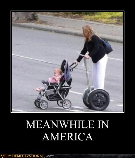 Meanwhile in America.... Laziest mom ever.