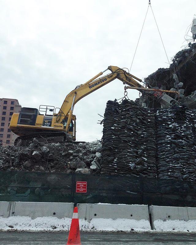 Construction zone #Halifax #komatsu