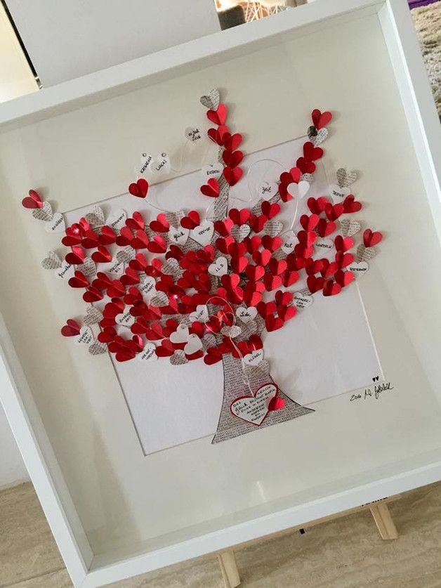 """Bild """"Lebensbaum"""" UNIKAT Außenmaaß 50 cm x 50 cm  incl. Rahmen und Passepartout  ❤️alle meine persönlichen Bilder sind unverwechselbar mit dem """"WG ART handmade with love"""" stofflabel..."""