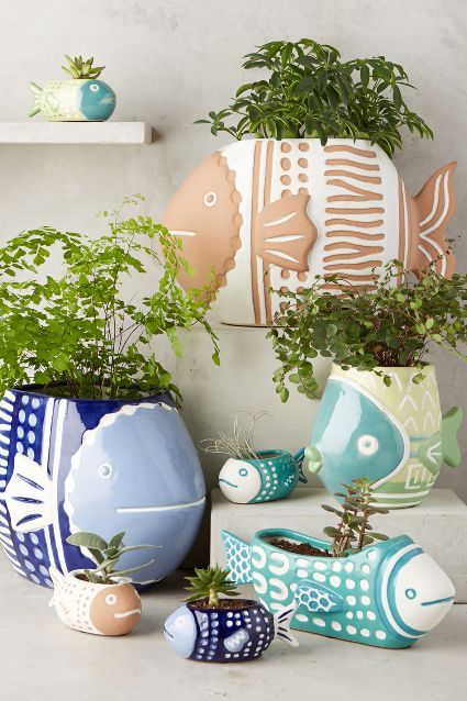 Perch Window Planter - fish planters are so cute. If you want to decorate your home - it is one of the best choise