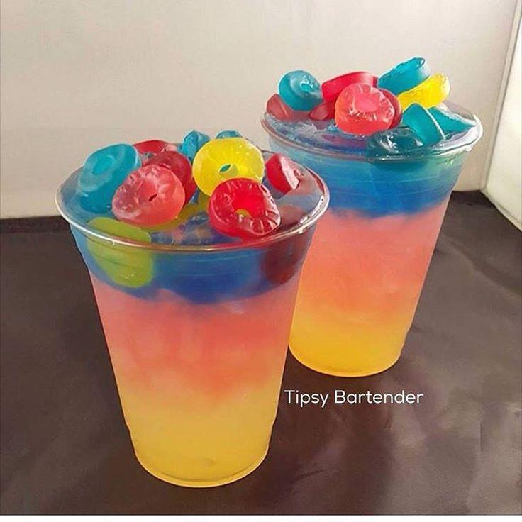 PARADISE MIX  Sweet & Sour Kinky Liqueur Bacardi Pineapple Rum Gypsy Vodka Dekuyper Blue Curacao  Fresh Lemon Juice
