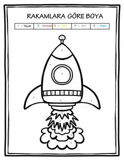 Okul öncesi Uzay Roket Boyama Uzay Pinterest Preschool School