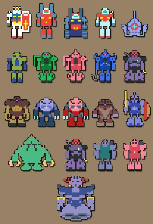 ドット絵のガンダム pixel art Gundam