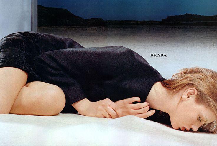 Prada Fall/Winter 1998.99: Angela Lindvall by Norbert Schoerner - the Fashion Spot