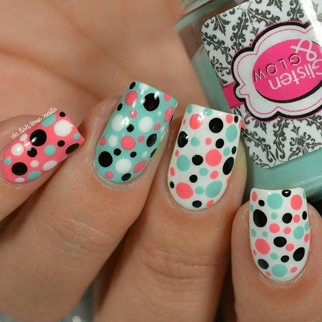 Dotticure nail art.  Creme Polish.  Simple and fun nail design.  DIY