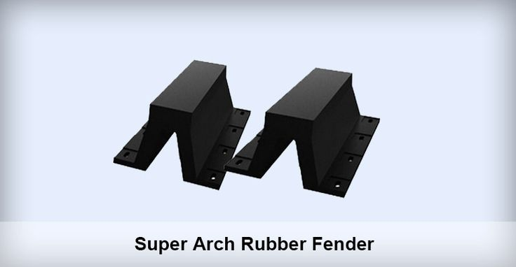 Supper Arch Rubber Fenders Application Of Supper Arch Rubber Fenders Supper Arch Rubber Fender is usually mounted to docks or ships, to counteract the collision force between ships and docks. Hence, it is an ideal solution to prevent the ship and dock from being damaged during mooring or berthing process.