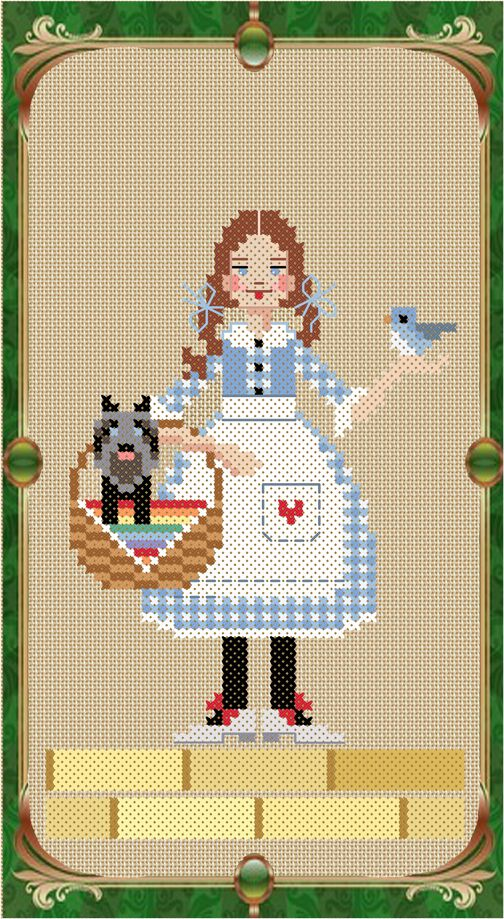 Brooke's Books Once Upon A Stitch Dorothy Gale by Brooke Nolan from The Wonderful Wizard of Oz.