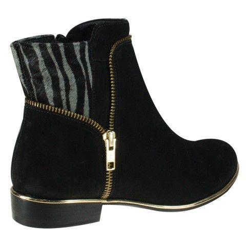 Bota Usaflex U4806 - Preto (Velour) - Calçados Online Sandálias, Sapatos e Botas Femininas | Katy.com.br