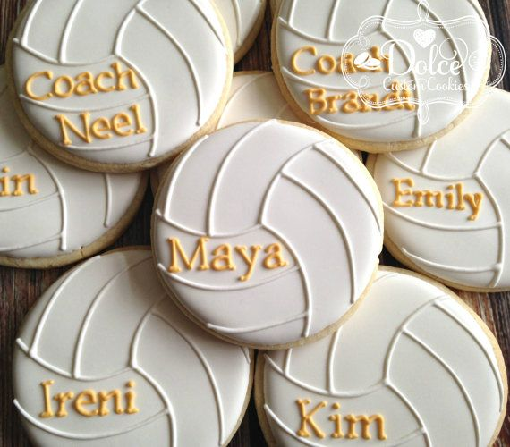 Volley Ball Personalized Cookies