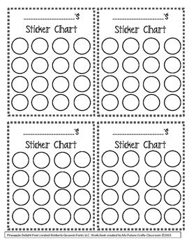 FREE Incentive/ Sticker Charts created by My Future Crafty Classroom! Great for…