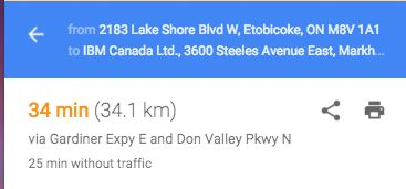 From work to home directly it is only 34 minutes away. So it's very a convenient option.