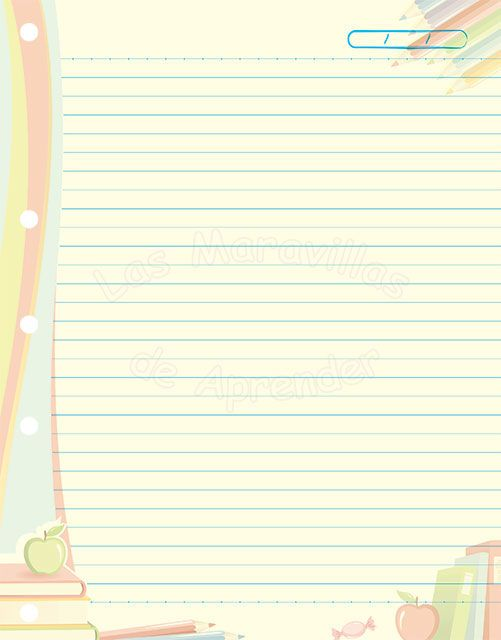 Microsoft Lined Paper Template 39 Best Hojas Images On Pinterest  Note Paper Notebook Paper And .