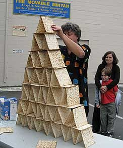 Building a matzah pyramid for fun and Pesach