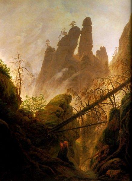 Rocky-Ravine-1822-23-94x74-cm-Vienne---sterreichische-Galerie-im-Belvedere