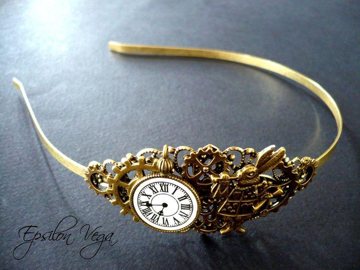 Accessoires coiffure - Epsilon Vega, bijoux rouages steampunk