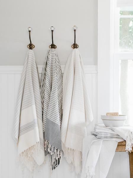 Black & Ivory Woven Turkish Towel