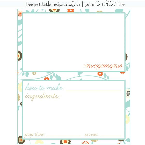 330 best Printable Recipe Cards images on Pinterest Tags, Books - free recipe card templates for microsoft word