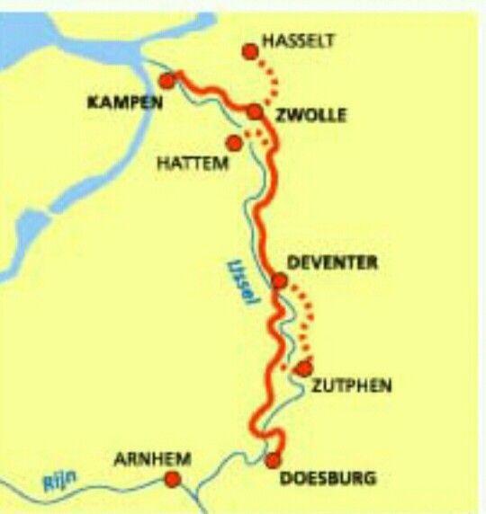De 7 Hanzesteden aan de IJSSEL in Nederland