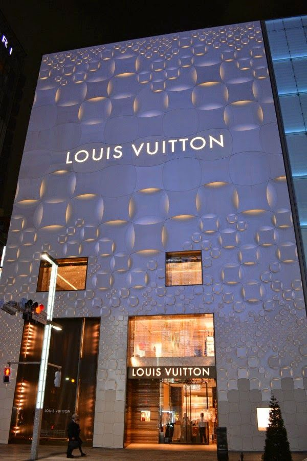 Vuitton store on Ginza Street in Tokyo