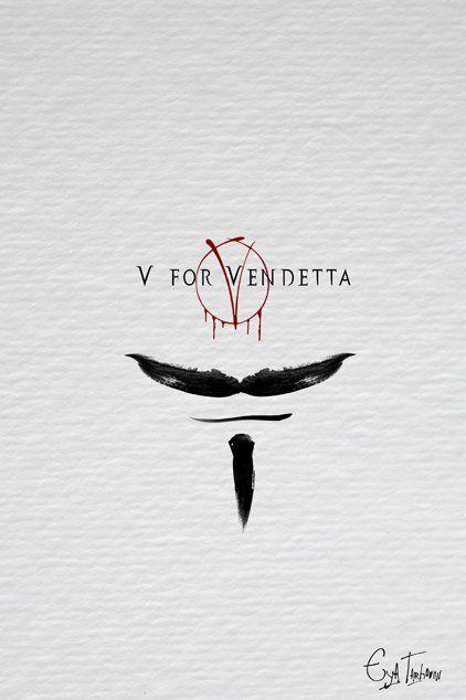 V for Vendetta (2005) - Minimal Movie Poster by Eya Tarhouni