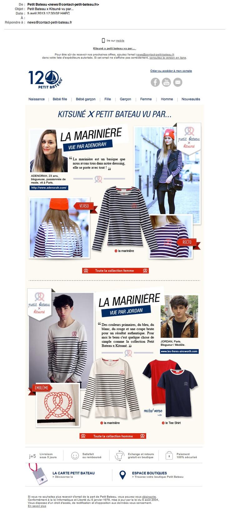 Emailing Kitsuné X Petit Bateau vu par... © Petit Bateau