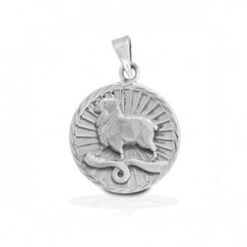 Bling Jewelry Sterling Silver Zodiac Aries Large Medallion Pendant