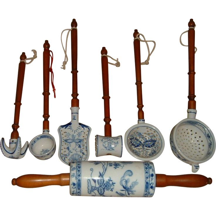 Vintage Porcelain & Wood Kitchen Utensils 7 Pcs. Fantastic from Fleury Collection at 30% off during the 72 Hour Ruby Lane Red Tag Sale beginning Friday, Sept. 23rd at 8am Pacific on Ruby Lane #RRTS #rubylane