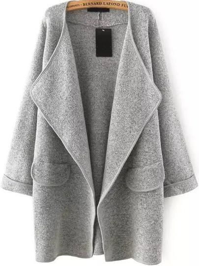 Description Sleeve Length(cm) :57cm Length(cm) :80cm Bust(cm) :120cm Size Available :one-size Season :Fall Pattern Type :Plain Items :Coat Color : Grey Types :Loose Sleeve Length :Long Sleeve Neckline