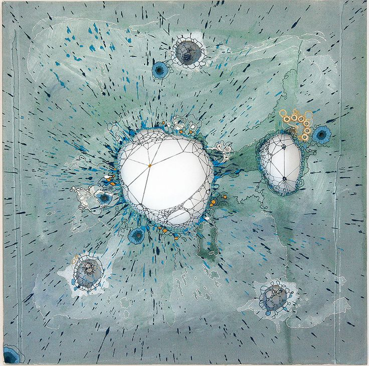nava lubelski: stained paper and thread