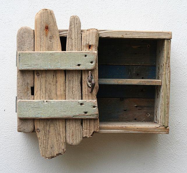 Driftwood Cupboard Cabinet, Drift wood Cornwall UK, Coastal Furniture, Nautical £95.00