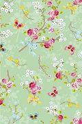 PiP Chinese Rose Green wallpaper | PiP Studio © - 10 meter a role - Width: 53 cm - Pris € 42,95