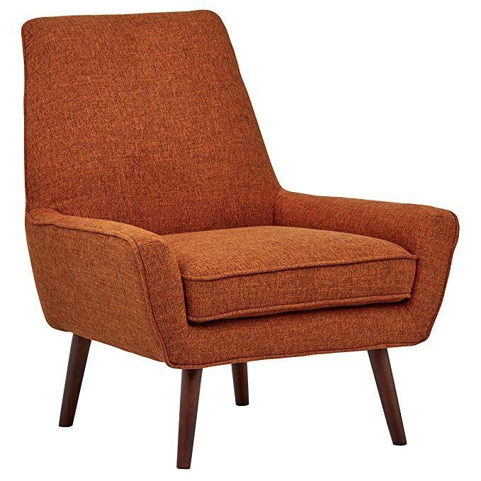 Amazon Com Rivet Jamie Mid Century Modern Upholstered Low Arm