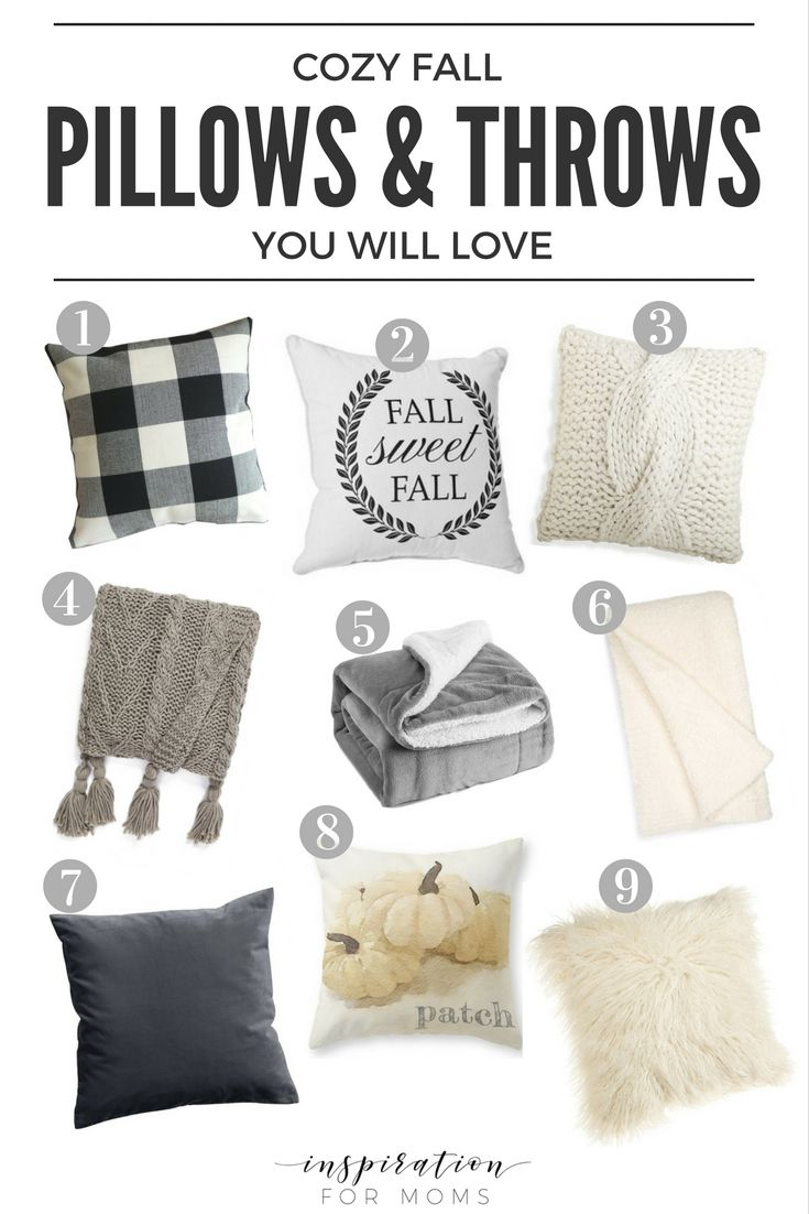 Snuggle up this season with some of my favorite cozy Fall pillows and throws. Most are in my own home and the rest...I sure wish they were!