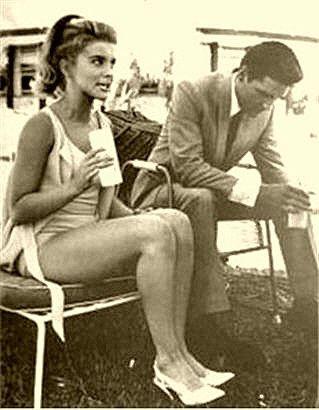 Ann-Margret and Elvis Presley during the making of Viva Las Vegas (1964).