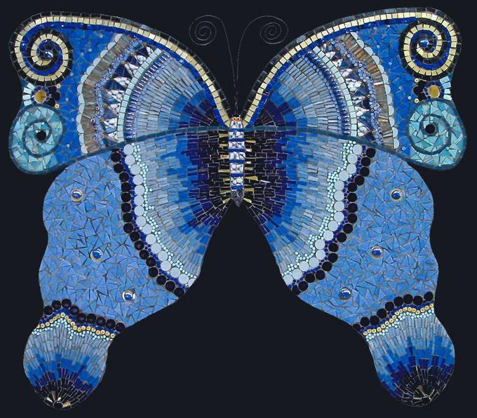 Blue Butterfly | Irina Charny Mosaics680 x 596 | 159.2 KB | www.icmosaics.com