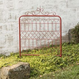 Imagine This Glorious Red Metal Garden Gate Flanked By Yellow Tulips Or  Purple Phlox. This