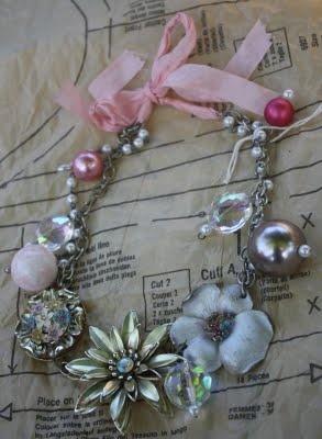 Vintage Broach Necklace