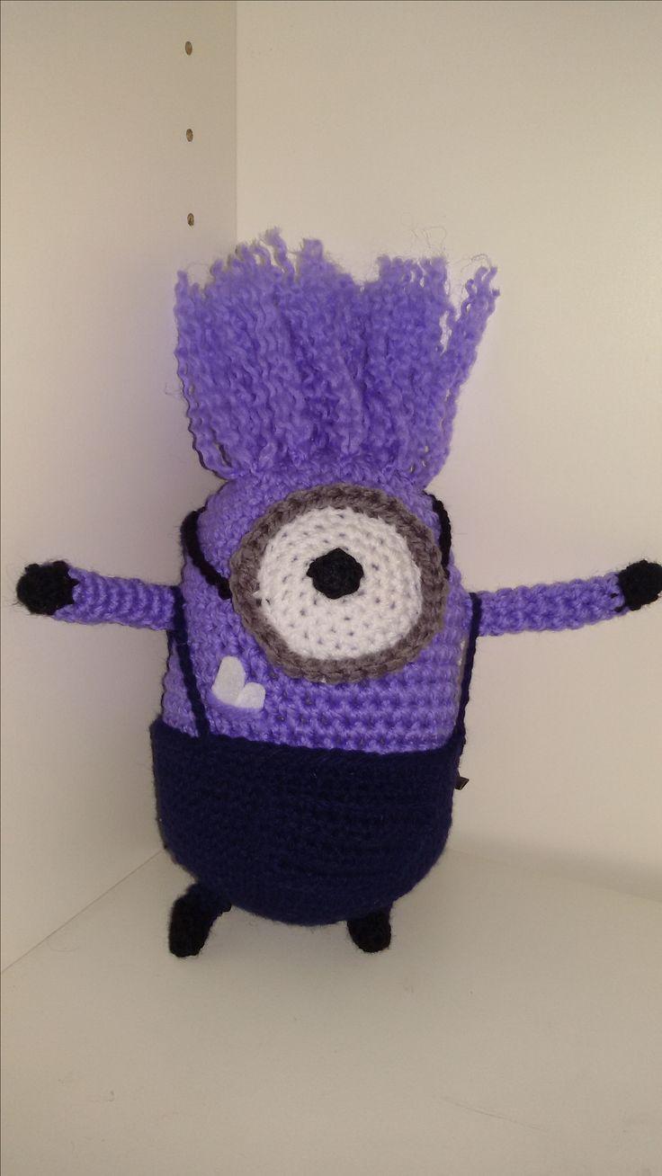 Un altro Minion viola è pronto. Questa volta con i capelli dritti!!
