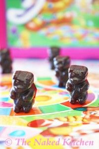 All Fruit Gummy Bears Recipe (the Naked Kitchen | Vegan, made with agar agar powder and unsweetened thawed frozen fruit juice