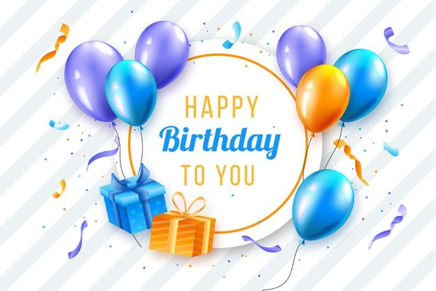Realistic Birthday Background Design Birthday Background Design Happy Birthday Balloons Birthday Balloons