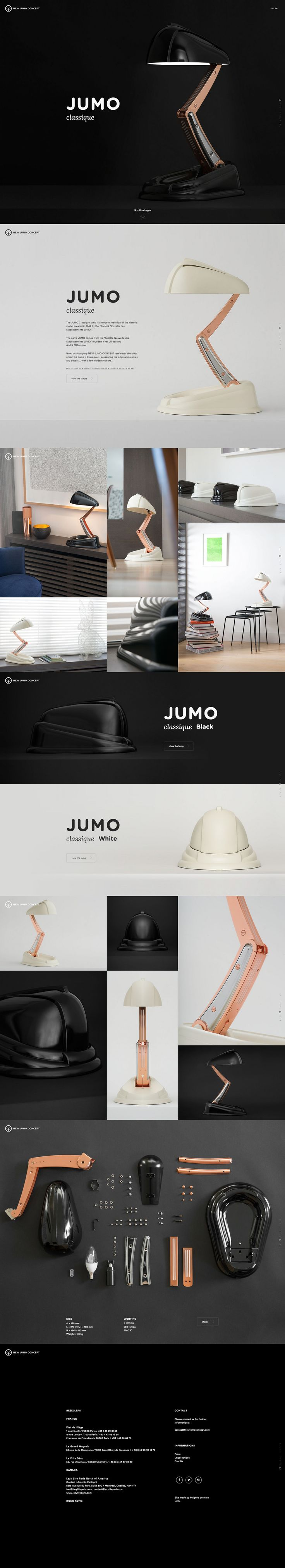 JUMO Classique lamp - a modern reedition of the historic model created in 1944 by the Socit Nouvelle des Etablissements JUMO. more on http://html5themes.org