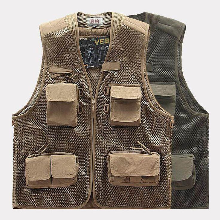 Summer Quick-Dry Mesh Fishing Vest Multi-Pocket Photography Angler Waistcoat Customizable Multifuctional Vest chaleco de pesca balikcilik fishing * Bu bagli bir çam AliExpress oldugunu.  AliExpress web sitesinde daha fazla bilgi icin ZIYARET dugmesine tiklayin.