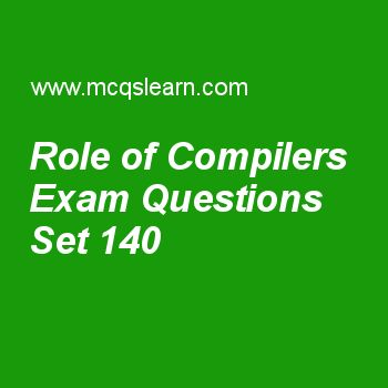 Practice test on role of compilers, computer architecture quiz 140 online. Practice computer architecture and organization MCQsquestions and answers to learn role of compilers test with answers. Practice online quiz to test knowledge on role of compilers, introduction to pipelining, architectural design vectors, introduction to interconnection networks, queuing theory worksheets. Free role of compilers test has multiple choice questions as register allocation algorithms are particularly...