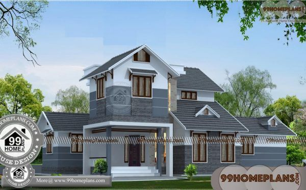 Corner Lot House Plans With Indian Designs Double Floor
