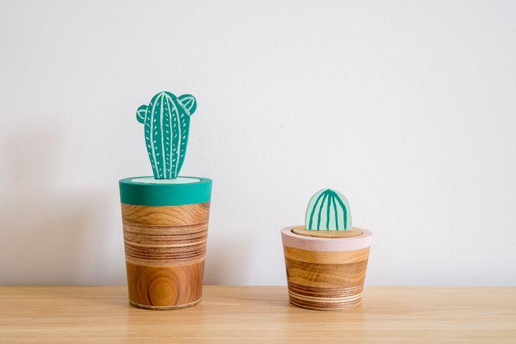 Zestaw 2 dowolnych eko pojemników duży + mały - Wood & Paper