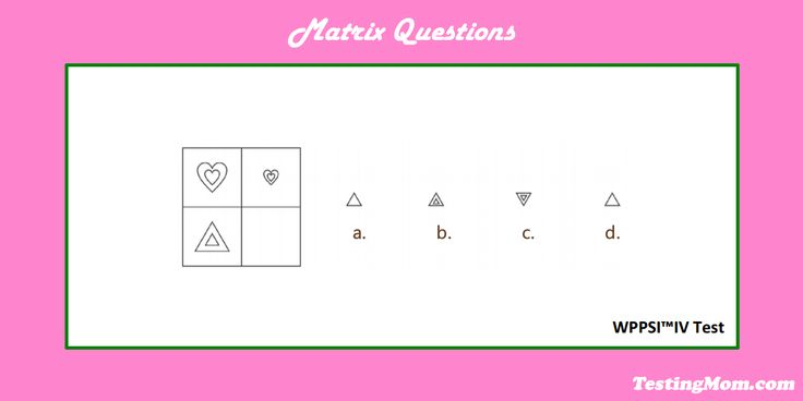 Can your child solve this #matrix question from the #WPPSI?