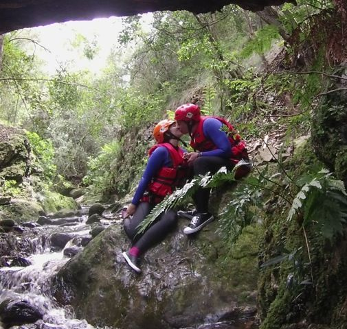 Honeymooners in the Kloof - Canyoning in The Crags, Plettenberg Bay. Satiate your adventurous spirit - enjoy hours of outdoor fun - this is what memories are made of - Happiness is…….Kloofing!
